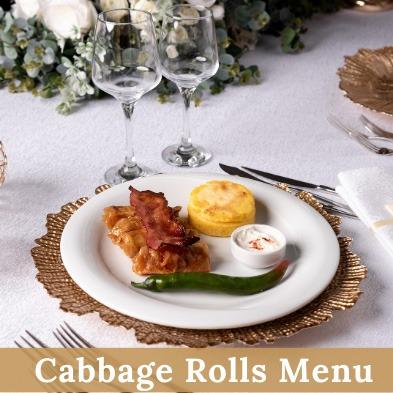 Cabbage Rolls Menu - Cernica Events
